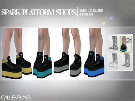 sims 4 platform heels callie v s spark platform boots