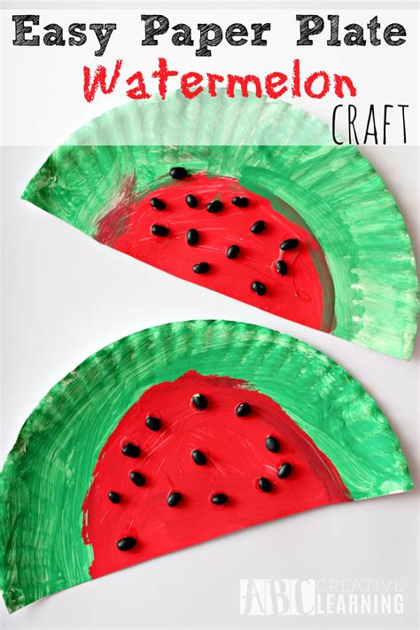 easy paper plate crafts for easy and simple paper plate watermelon craft project