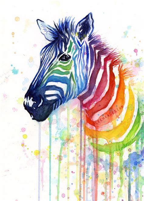 zebra druck badezimmer ideen zebra kunst aquarell malerei kunstdruck olechkadesign