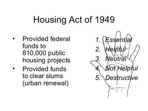 housing act of 1949 truman s fair deal