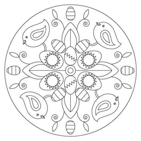bird mandala coloring pages easter mandala with birds and eggs coloring page from