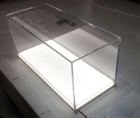 Acrilix Box Can Be Assembled custom fabricated clear acrylic display box white
