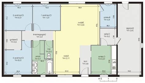 Plan Maison Plein Pied Gratuit 3383 by Plan Maison Gratuit Plain Pied Immobilier Pour Tous