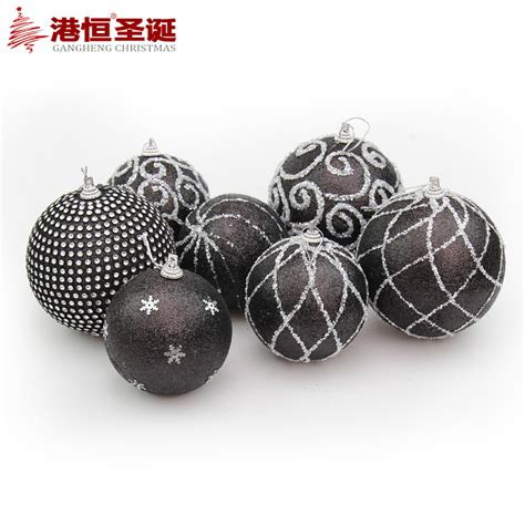 popular black christmas ball ornaments buy cheap black