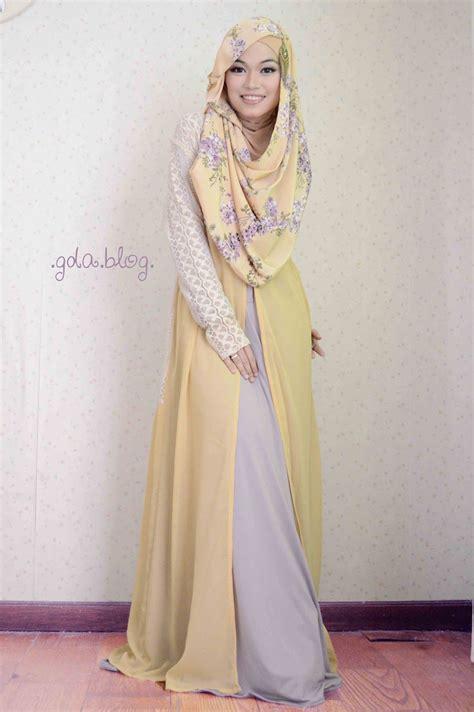 Ghaida 2 Dress yellow and purple 2 by gda s modest fashion