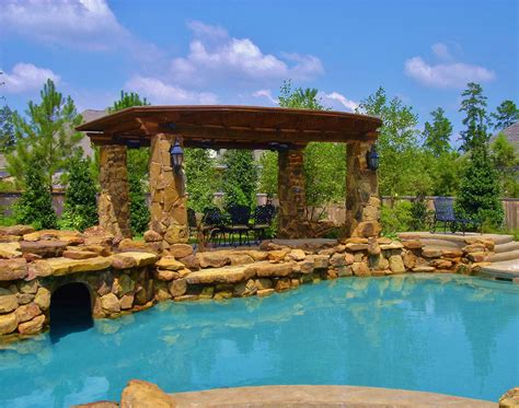 Modern Home Design Houzz Pool Photos Houston The Woodlands Tropical Pools