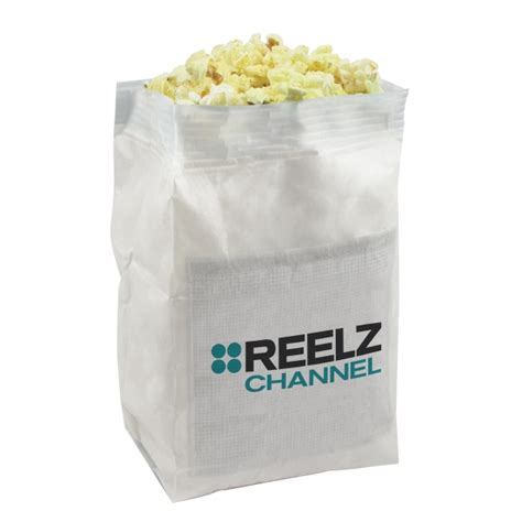 imprinted white popcorn bag with custom imprint usimprints