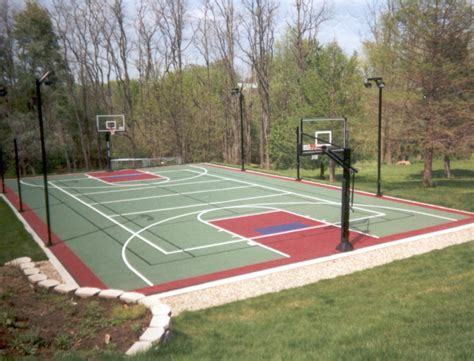backyard sport court multi sport game courts lake shore sport court
