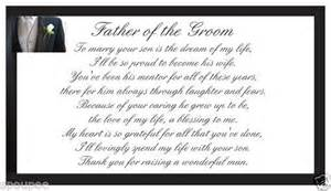 Father of the groom poem from bride gift magnet wedding black white