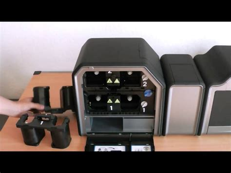 Printer Fargo Hdp5000 how to change the ribbon the new fargo hdp5000 card printer