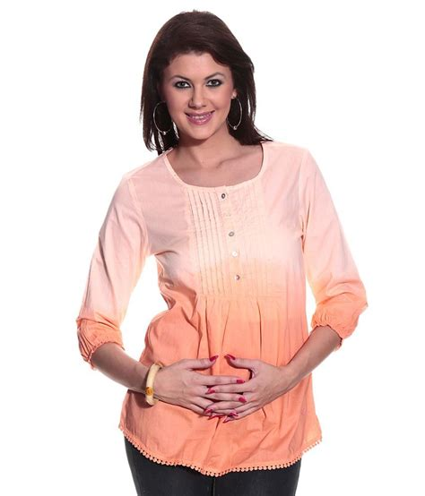 N1 Tenun Blouse Tunic buy pepe orange cotton tunics at best prices in india snapdeal