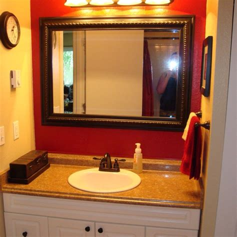 bathroom with red accents 15 best images about home a guy s bathroom on pinterest