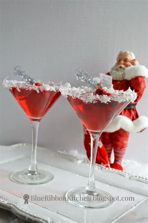 christmas cocktails blue ribbon kitchen santa claus mopolitan a signature