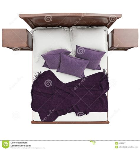 best blankets for bed bed with pillows and blanket cover top view stock