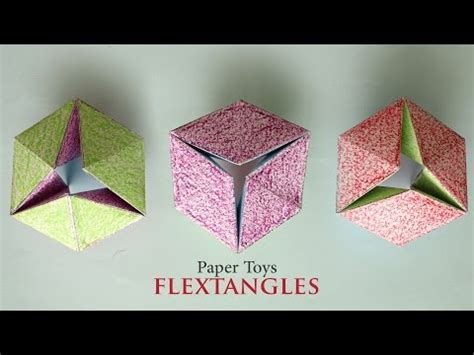 How To Make Cool Paper Toys - how to make a cool paper kaleidocycle funnycat tv