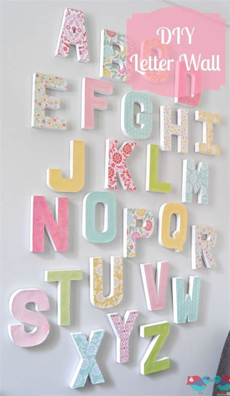 letter wall inexpensive home decor