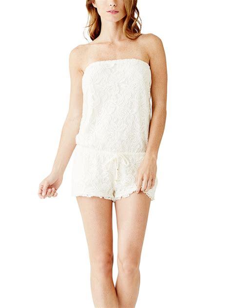 Guess Gs White Lace Romper guess s jennasa lace romper ebay