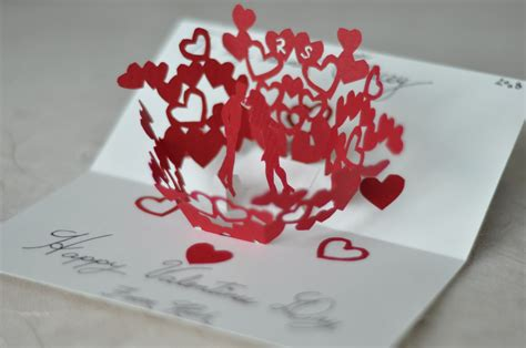 twisting hearts pop up card template image collections