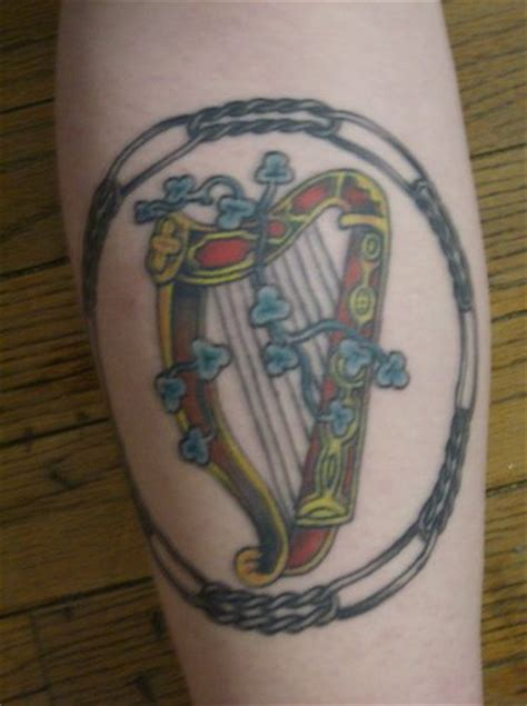 irish harp tattoo detailed harp tattooimages biz