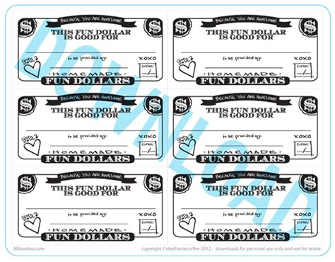 printable tickets and coupons free printables online fun dollar coupons a free printable