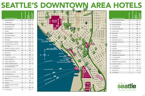 seattle map with hotels maps logistics visit seattle