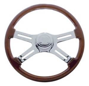 Steering Wheel Of A Truck Peterbilt Steering Wheels Big Rig Chrome Shop Semi Truck