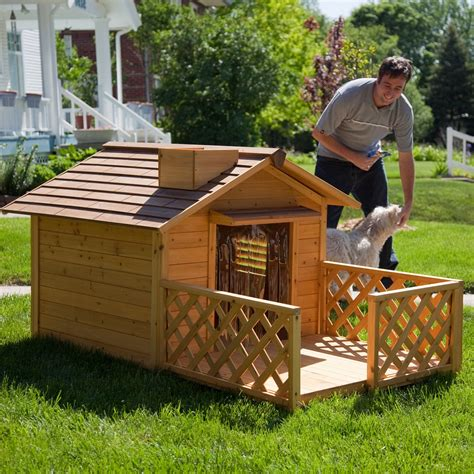 dog house with porch plans diy dog house for beginner ideas