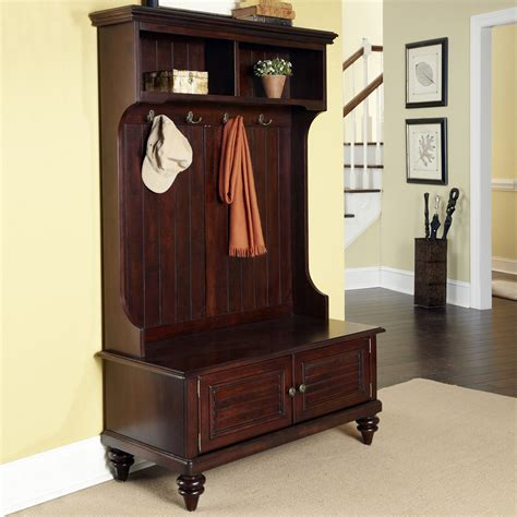 hall tree storage bench bermuda hall tree with storage bench espresso hall