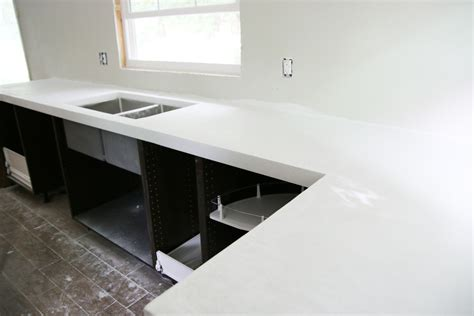 6 Foot Kitchen Island diy white concrete countertops chris loves julia