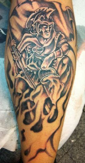 st florian tattoo st florian strike the box firefighter tattoos