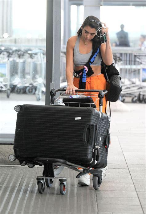 dua lipa jakarta dua lipa at heathrow airport heading off for her