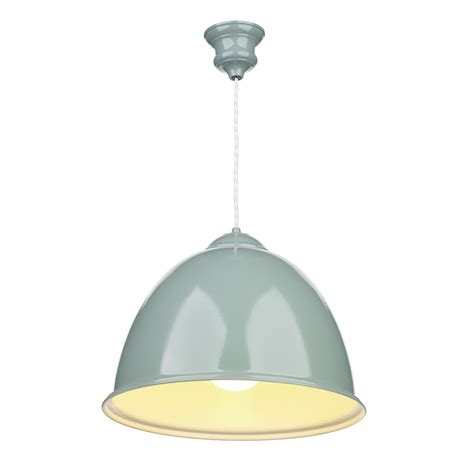 Metal Ceiling Light Blue Painted Metal Ceiling Pendant Light Retro Style Over