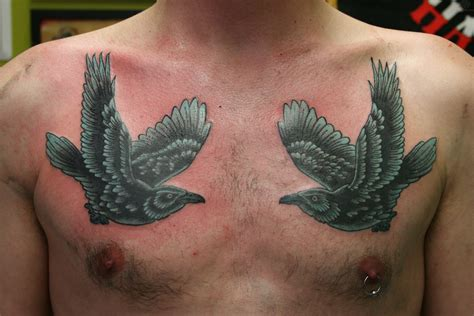 raven chest tattoo tattoos page 17