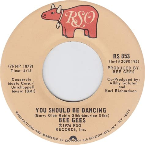bee gees you should be dancing 1976 all charts weekly top 40