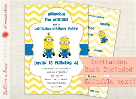 invite christmas minion minion birthday invitation ideas birthday invitations minion