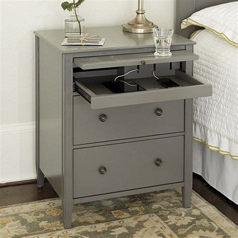 bedside table with charging station charging stations side tables and simple lines on