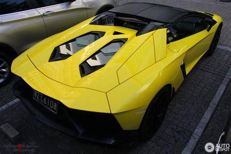 lamborghini aventador anniversario roadster lamborghini aventador lp720 4 roadster 50 176 anniversario 4 september 2014 autogespot