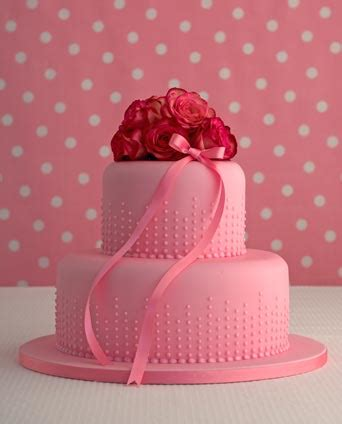 pink champagne bubbles birthday cake