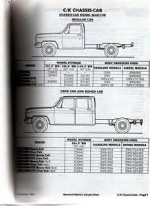 cab and chassis specs the 1947 present chevrolet