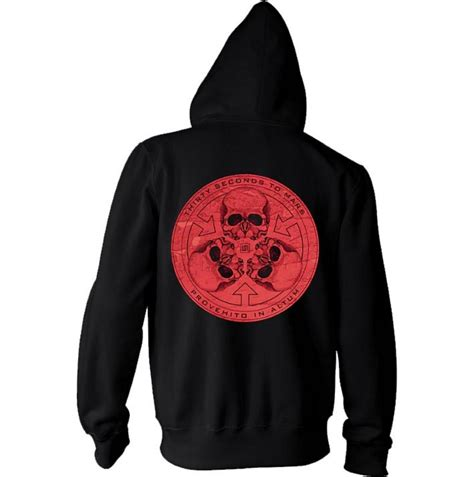 Hoodie Secont To Mars Jidnie Clothing official 30 seconds to mars hoody hoodie exposed skull