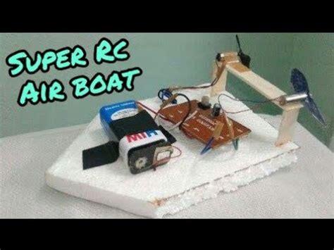 mini rc boats youtube how to make mini rc air boat youtube