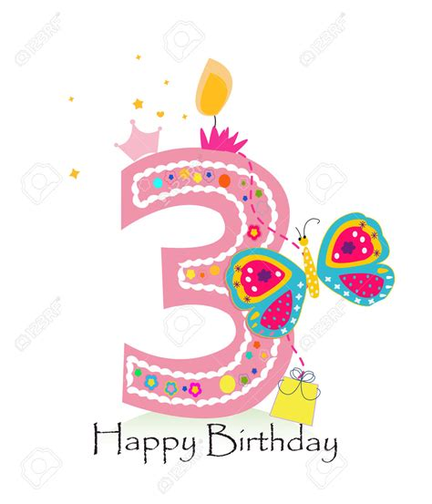 happy 3rd birthday images candle clipart 3rd birthday pencil and in color candle