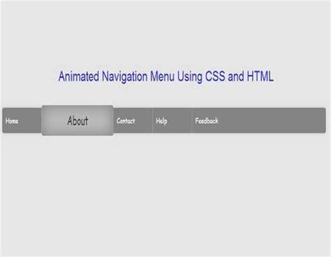 creating css navigation menu with rollover images animated navigation menu using css and html
