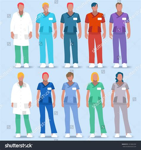 scrub color code clinic doctor scrub physician character