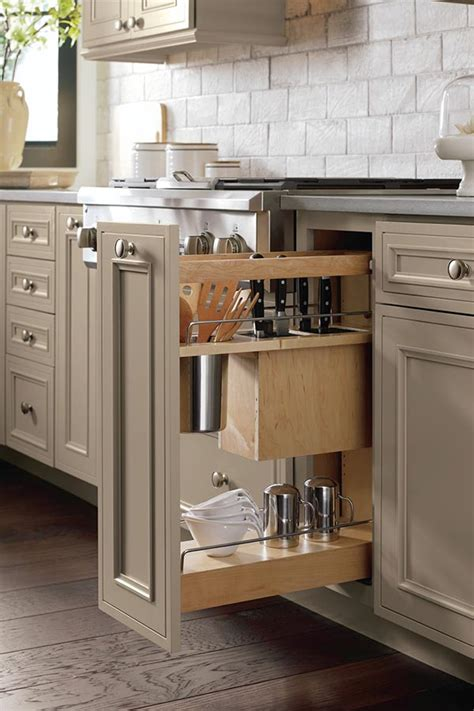 kitchen cabinet pull outs utensil pantry pull out cabinet with knife block decora