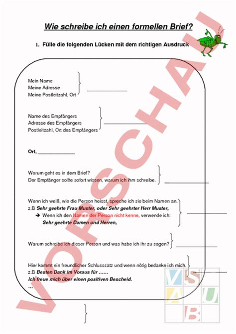 Formeller Briefvorlage 9 formeller brief kozanozdra