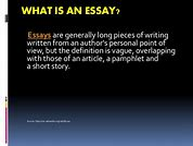 Image result for what is the essay about what is its thesis