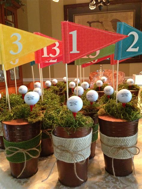 centerpieces i made for a charity golf outing golf