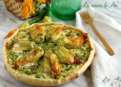 torta salata ai fiori di zucca crostata ai fiori di zucca e burrata torta salata con