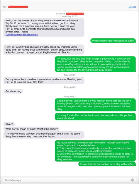 ebay dispute solved buyer insists that i send my paypal information fo